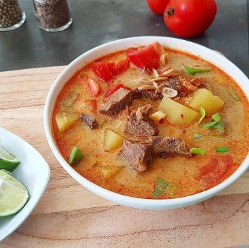 Soto Betawi - Jakarta Beef Soup Recipe
