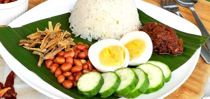 Nasi Lemak - Malaysian Coconut Milk Rice Recipe