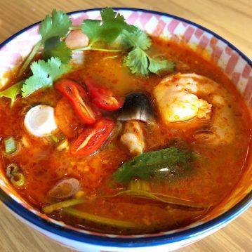 Tom Yum Goong - Thai Spicy Shrimp Soup Recipe